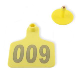 Everything ID Medium Female Ear Tags for Cattle (100 Pack inc Buttons)