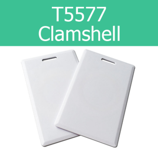 T5577 125KHz Writable Clamshell Thick Proximity Cards