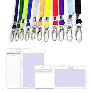 Lobster Oval Hook Claw Clip 10mm Lanyard + ID Card Holder Pouch