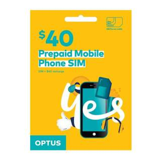 Optus $40 Prepaid Sim Card Starter Kit Pack
