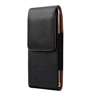 Premium Leather Carrying Case for Telstra Evoke Plus 2 (A7S 2020) 4GX with Belt Clip