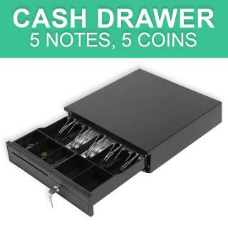 Everything ID Heavy Duty Electronic Cash Drawer - 5 Notes, 5 Coins, RJ11 RJ12 Connection