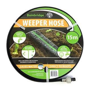 Bainbridge Weeper Drip Garden Hose Efficient Watering Direct to Roots 15M