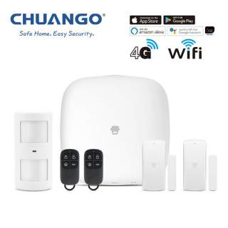 Chuango H4-LTE WiFi & 4G Wireless DIY Smart Home Office Security Alarm Starter Kit