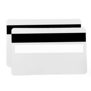 PVC CR80 0.76mm 30mil White Card with HiCo Magstripe & Signature Panel (500 Pack)