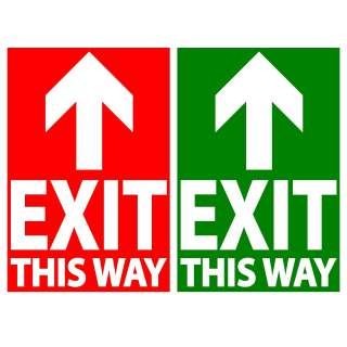 Social Distancing Floor or Carpet Marking Sign Sticker Decal - Exit This Way