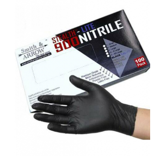 Industrial Black Heavy Duty Textured Fingers Disposable Nitrile Gloves - 100 Pack