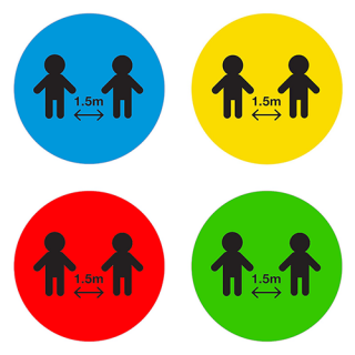 Social Distancing Floor or Carpet Sticker Indoor or Outdoor Marking Sign Decal - Children School Childcare Day Care