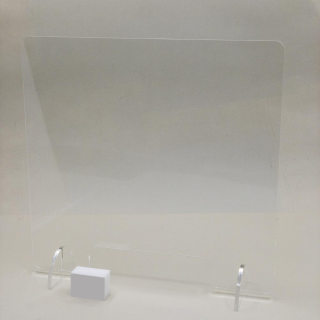 Sneeze Guard Acrylic with Stands 600 x 800 mm Reception Medical Retail Counter Safety Shield