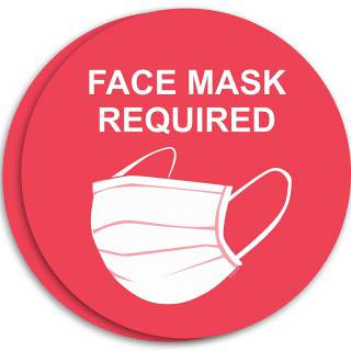Social Distancing Vinyl Entrance Door Window Wall Marking Sign Sticker Decal - Face Mask Required