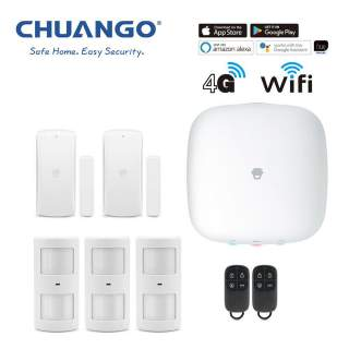 Chuango H4-LTE WiFi & 4G Wireless DIY Smart Home Office Security Alarm Premium Kit
