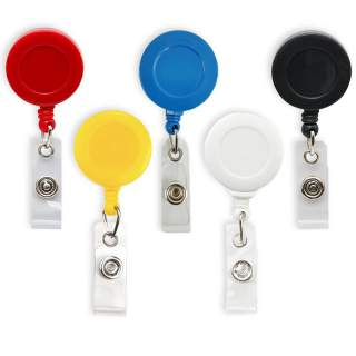 Retractable Badge Holder Key Chain Reel with Swivel Card Holder Strap