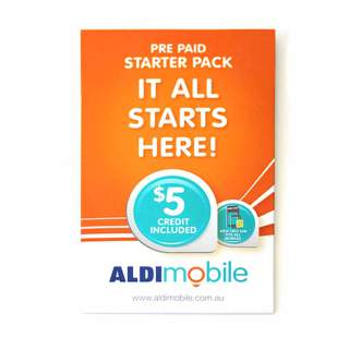 Aldi $5 Prepaid Sim Card Starter Kit Pack