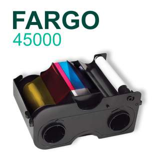 Fargo 45000 YMCKO 250 Print Colour Ribbon for DTC1000 DTC1250e