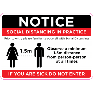 Social Distancing Vinyl Door Wall Marking Sign Sticker - Social Distancing in Practice