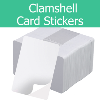 Printable Clamshell Label PVC Paper Mylar Adhesive Blank Card CR79 / CR80