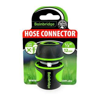 Bainbridge Anti-leak Hose Connector 12mm 18mm Rubber Finish