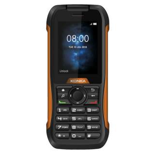 Konka RP1 Tough IP68 3G Black / Orange Push Button Waterproof Dust Proof Mobile Phone
