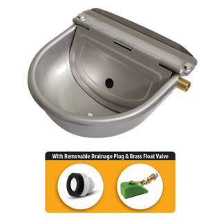Bainbridge Supreme Automatic Dog Horse Drinking Water Bowl Stainless Steel with Drainage Plug