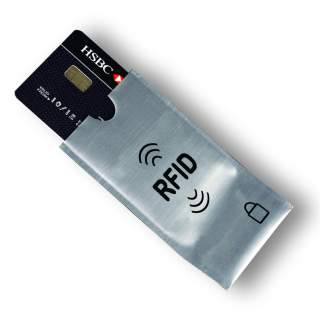 RFID Blocking Sleeve Secure Credit Debit Card ID Protector Anti Scan