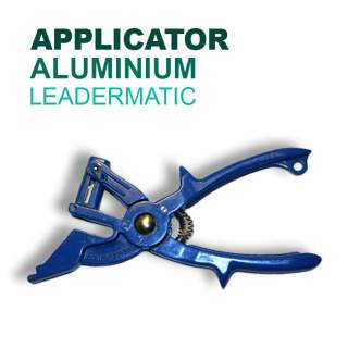 Leadermatic Applicator Aluminium with Bonus Pouch (Use for Leadertags & Jumbo Tags)
