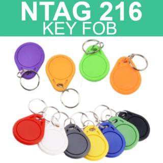 NTAG216 NFC Thin Key Tag Fob - 888 Bytes Memory