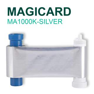 Magicard MA1000K-SILVER 1000 Print Silver Ribbon for Pronto Enduro MC200 Rio Pro