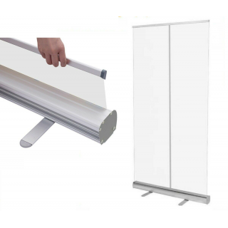 Clear 2m Pull Up Protective Barrier Sneeze Guard Social Distancing Screen Pop-up Roller Shield