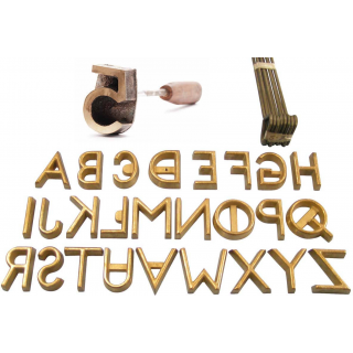 "Freeze Brand A-Z Set 26 Letters Freeze Branding Iron Cow Horse 1"" 1.5"" 2"" 2.5"" 3"" 4"""