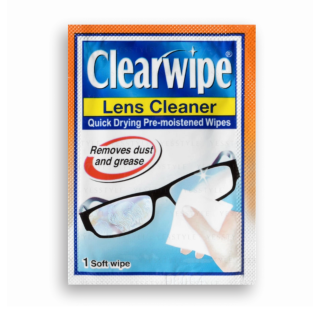 Clearwipe Lens Cleaner Quick Drying Pre-Moistened Wipes for Glasses Sunglasses Watch & More