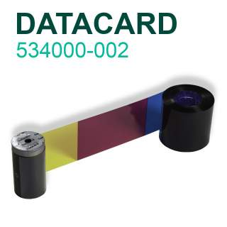 Datacard 534000-002 YMCKT 250 Print Colour Ribbon for SP25 SP35 SP55 SP75 SD260 SD360 SD460