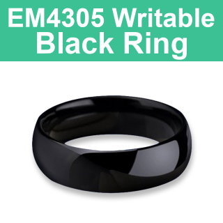 EM4305 125KHz Writable Black Ring
