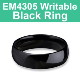 EM4305 125KHz Writable Black Ring