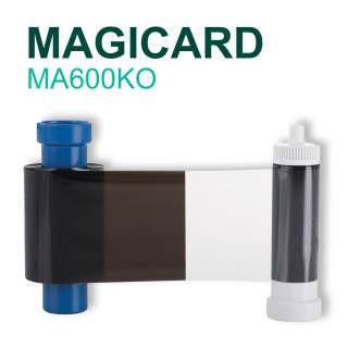 Magicard MA600KO 600 Print Black Ribbon with Overlay for Pronto Enduro Rio