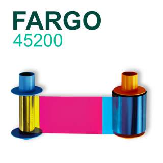 Fargo 45200 YMCKO 500 Print Colour Ribbon for DTC4500e DTC4500