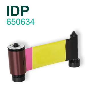 IDP Smart 650634 YMCKO 250 Print Colour Ribbon for Smart-30 Smart-50
