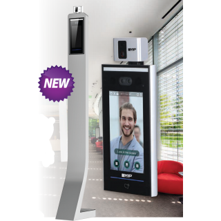VIP Vision Temperature Monitoring Screening Checkpoint Access Control Station with Face Recognition