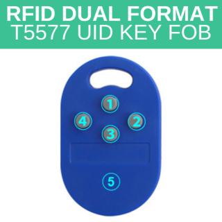 5 in 1 Multiple Key Tags RFID Dual Format T5577 UID Key Fob