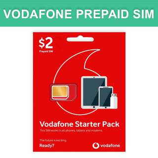 Vodafone $2 Prepaid Sim Card Starter Kit Pack