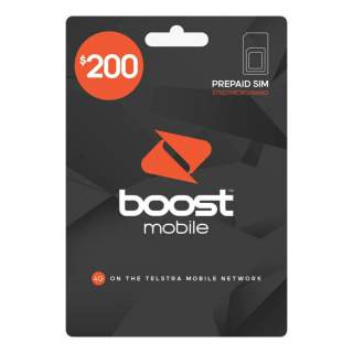 Boost Mobile $200 Prepaid SIM Card Starter Kit Pack - Long Term Plan - 12 Months Expiry