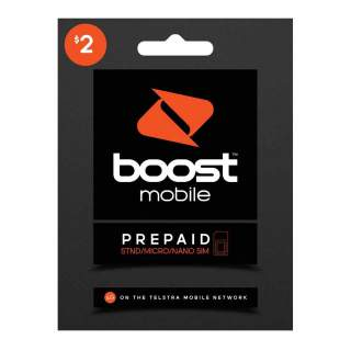 Boost $2 Prepaid Sim Card Starter Kit Pack
