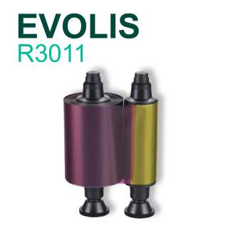 Evolis R3011 YMCKO 200 Print Colour Ribbon for Pebble Dualys Securion