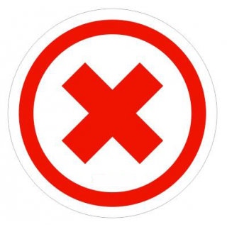Social Distancing Floor or Carpet Sticker Indoor or Outdoor Marking Decal - Red Cross Not in Use