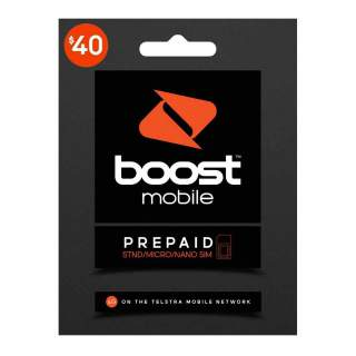 Boost $40 Prepaid Sim Card Starter Kit Pack