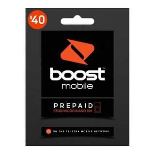 Boost $40 Prepaid Sim Card Starter Kit Pack