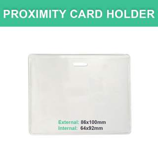 Proximity Card Holder - Vinyl Landscape Horizontal
