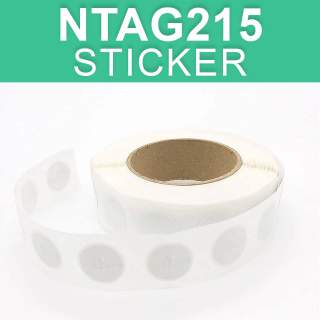 NTAG215 NFC Round Sticker Label