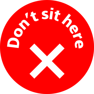 Social Distancing Vinyl Seat Table Wall Marking Sign Sticker - Don't Sit Here