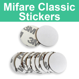 MIFARE Classic 1K S50 ISO 14443A 13.56 MHz 300mm 3M White Coin Sticker