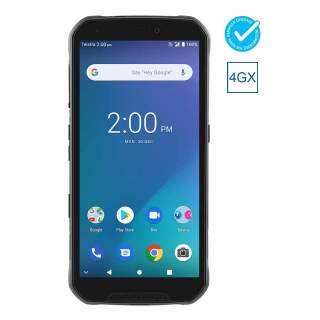 Telstra Tough MAX 3 T86 (4GX, Blue Tick, IP68 Rated, 64GB/4GB, Patch Lead Port) - Black/Blue